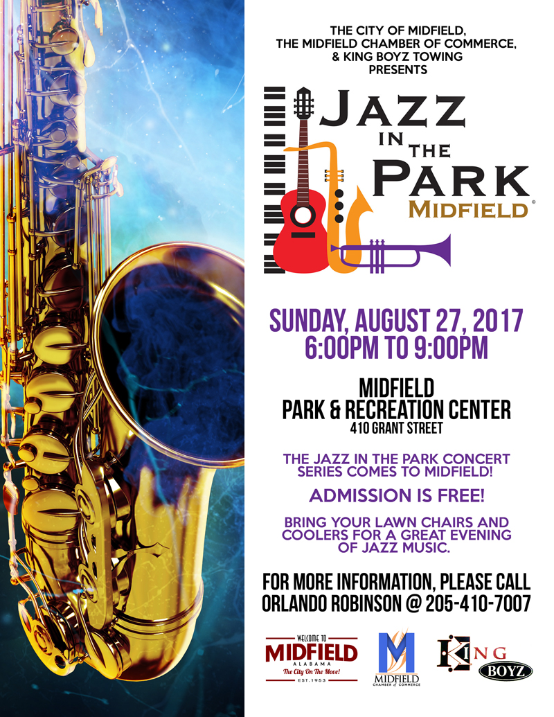 Jazz In The Park Midfield 2017 site